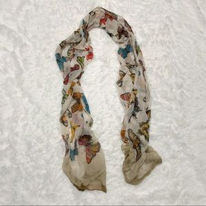 Butterfly Print Spring Scarf